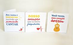 DIY: 3 cartões para namorado músico (ou que gosta muito de música)