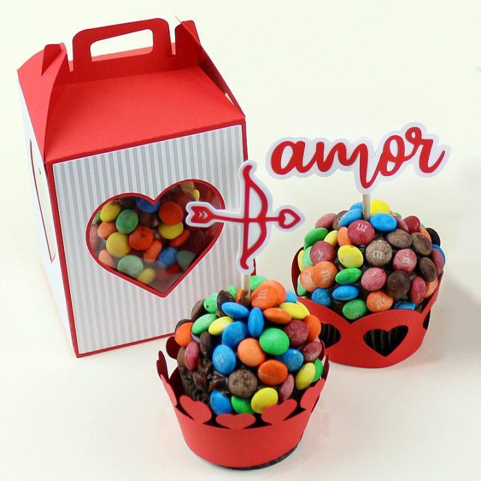 DIY: Decoração romântica para doces e cupcakes