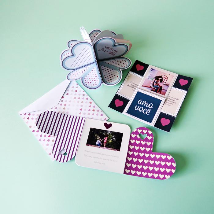 DIY: 3 cartões fáceis para o Dia dos Namorados