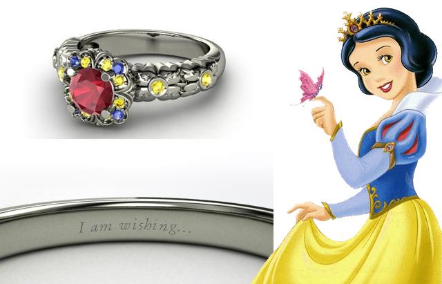 Grife americana cria anéis de noivado inspirados nas princesas da Disney