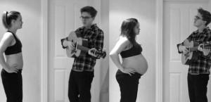 Casal registra gestação embalada por música feita pelo pai. Muito fofo!