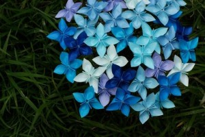 Winter Blue Origami Bouquet by MyBohemianSummer on Etsy