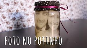 Porta-retratos no potinho