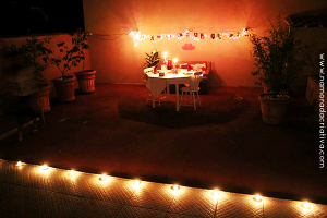 Jantar romântico da leitora