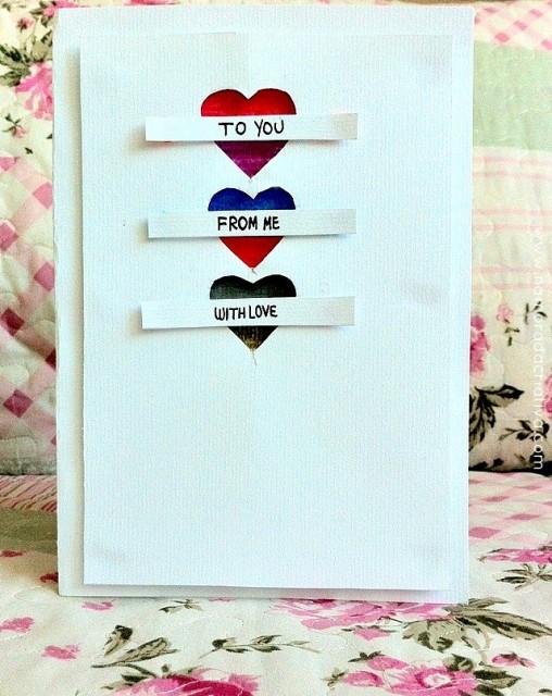 DIY: Cartão With Love (Fácil de fazer)