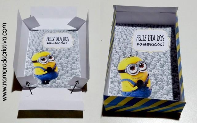 DIY Dia dos Namorados - Caixinha Minions - 12