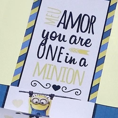 """DIY Dia dos Namorados: Caixinha """"you are one in a MINION"""""""