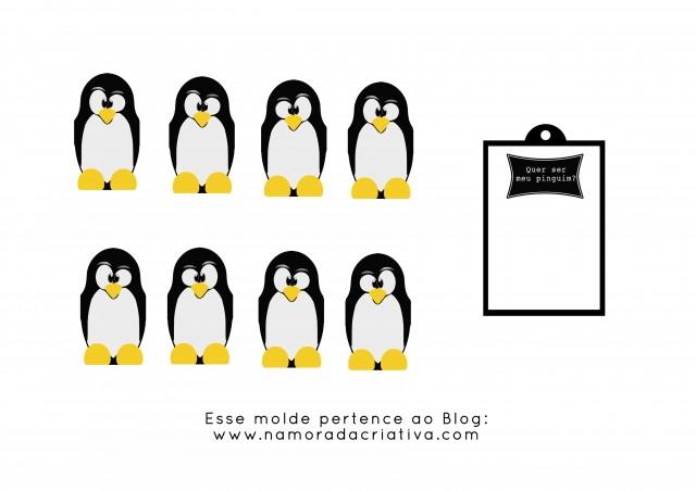 Quer ser meu pinguim Molde