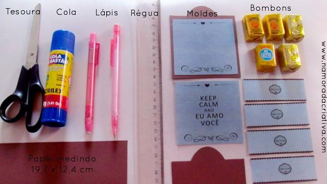 Cartão_bombons Materiais