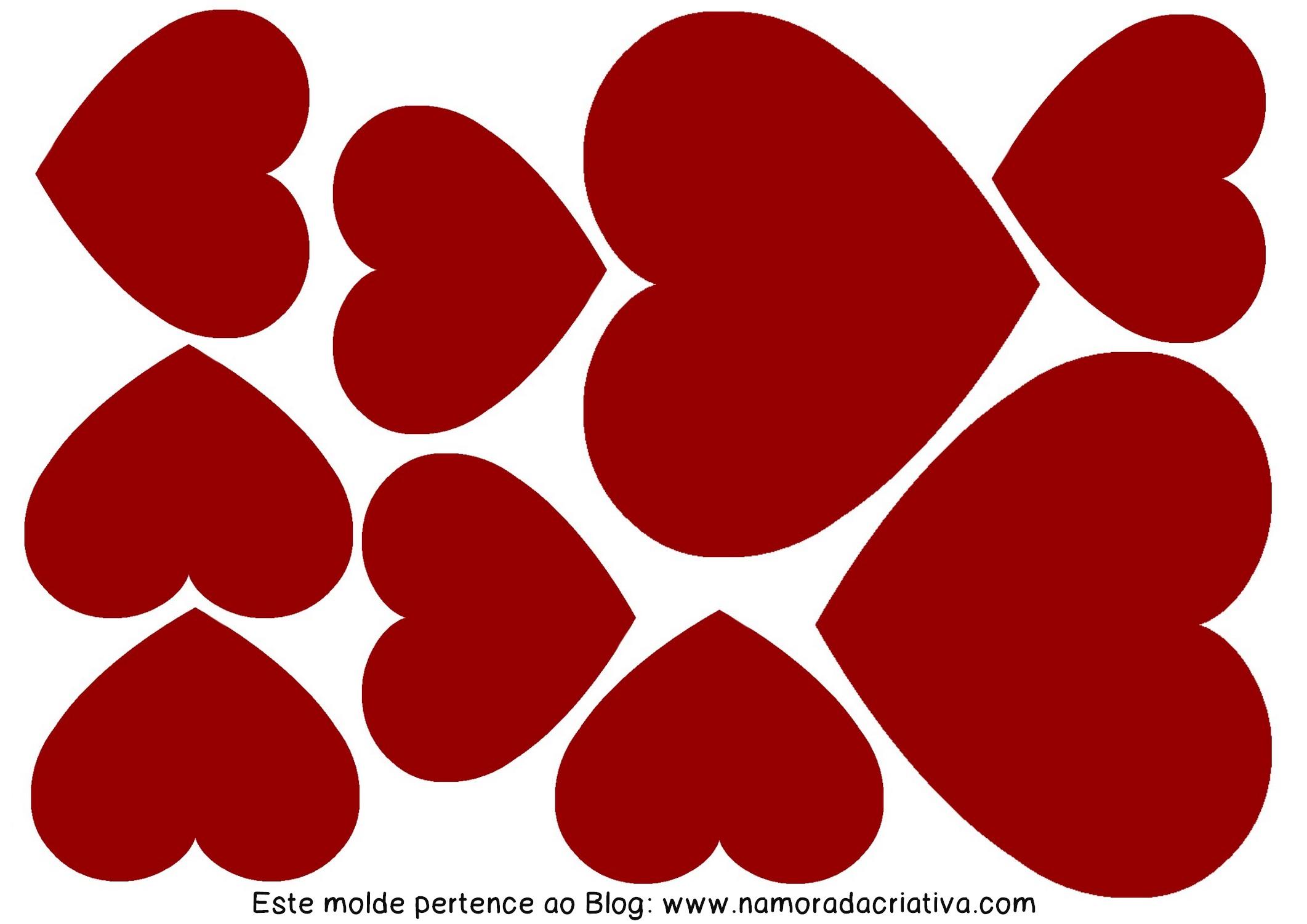 DIYs, Dicas e Inspirações Supresa para Namorados - Molde Corações