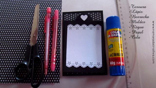 Material necessário - Cartão você da cor a tudo