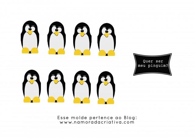 Quer ser meu pinguim Molde sem tag