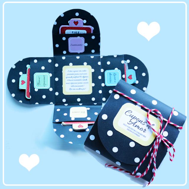 """DIY: Cupons do Amor + resenha da caixa """"Vale Presente"""" da Apaixonados"""