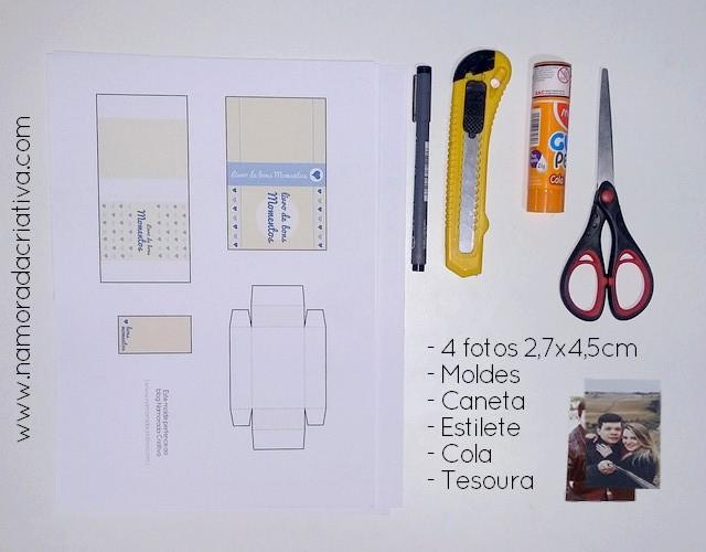 DIY BOX DO NOSSO AMOR - MATERIAIS