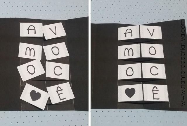 DIY - Cartão Amo Você - Namorada Criativa - 07
