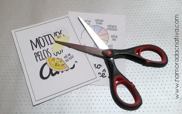 DIY - Cartão Divertido para os Amantes de Pizza - Namorada Criativa - 02
