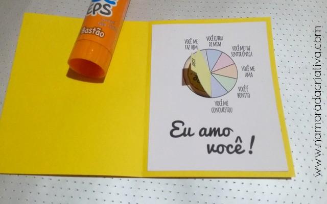 DIY - Cartão Divertido para os Amantes de Pizza - Namorada Criativa - 06