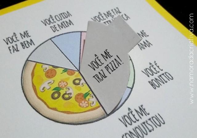 DIY - Cartão Divertido para os Amantes de Pizza - Namorada Criativa - 09