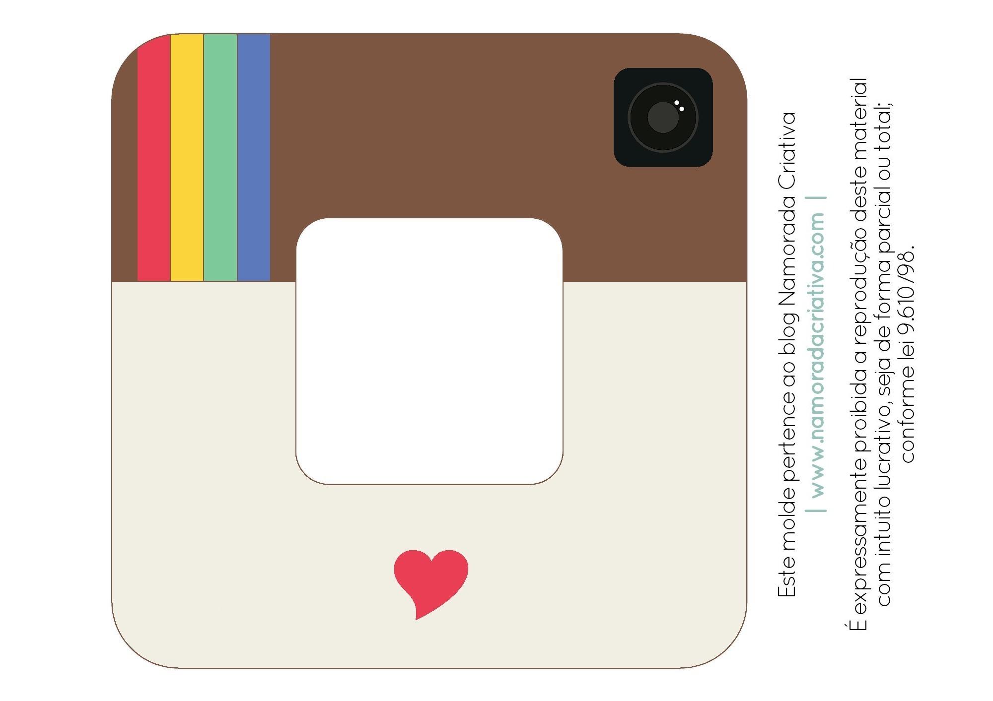 DIY-Porta-retrato-Instagram-Namorada-Criativa-Sem-texto-com-Coração