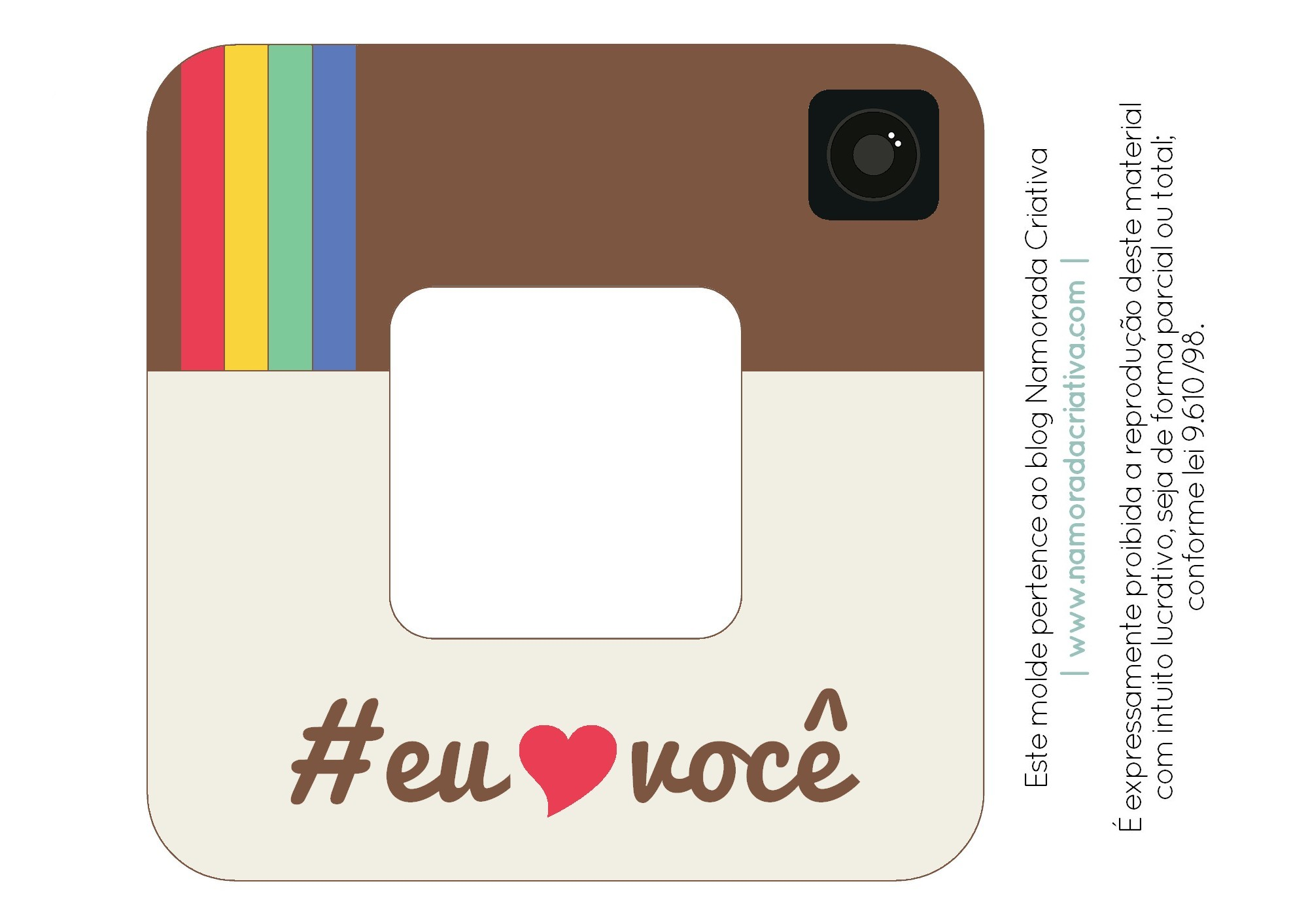 Diy Porta Retrato Instagram Namorada Criativa Por Chaiene Morais