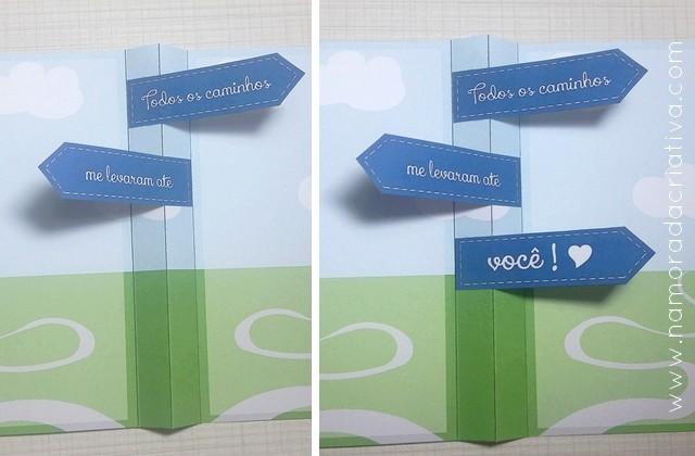 DIY - CARTÃOZINHO TODOS OS CAMINHOS ME LEVAM ATÉ VOCÊ - NAMORADA CRIATIVA - 06