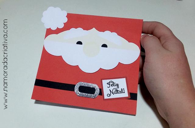 DIY: Carta/ cartão Papai Noel