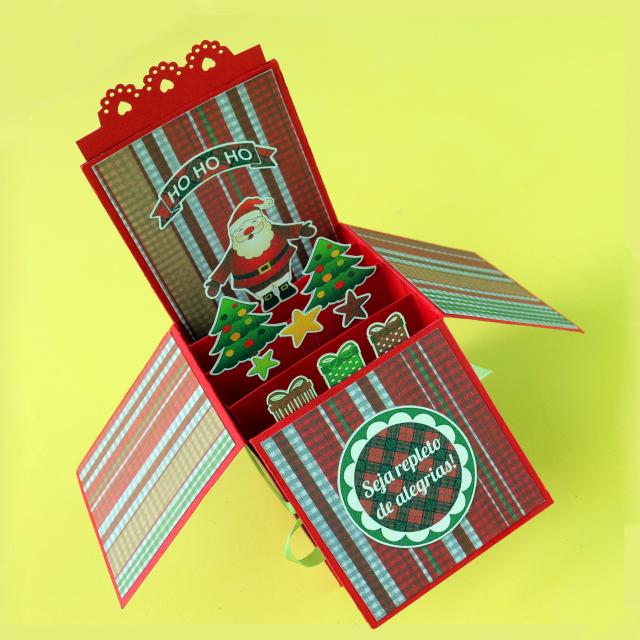 DIY: Card in a Box de Natal