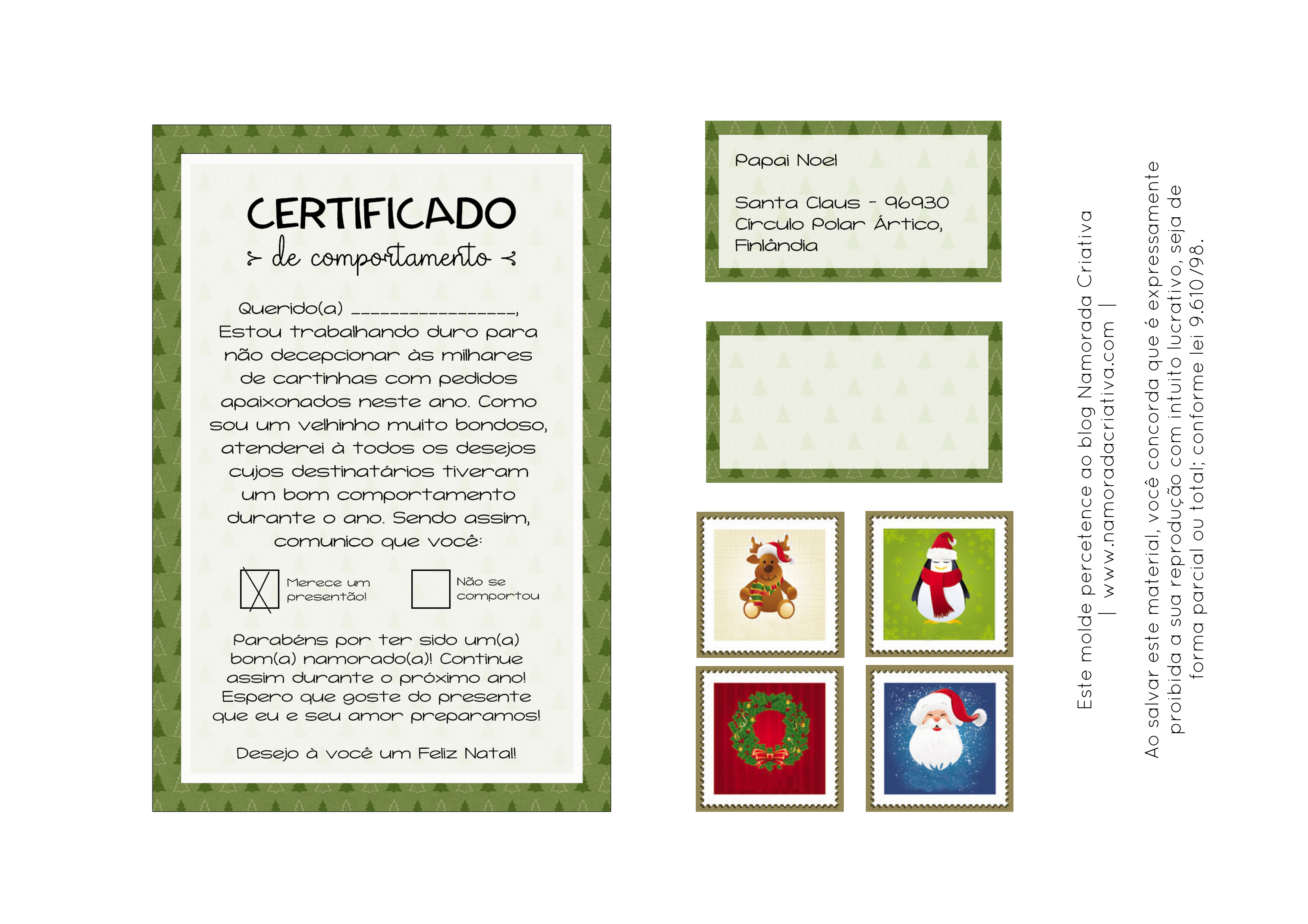 DIY NATAL - CERTIFICADO DE COMPORTAMENTO - BLOG NAMORADA CRIATIVA - APROVADO