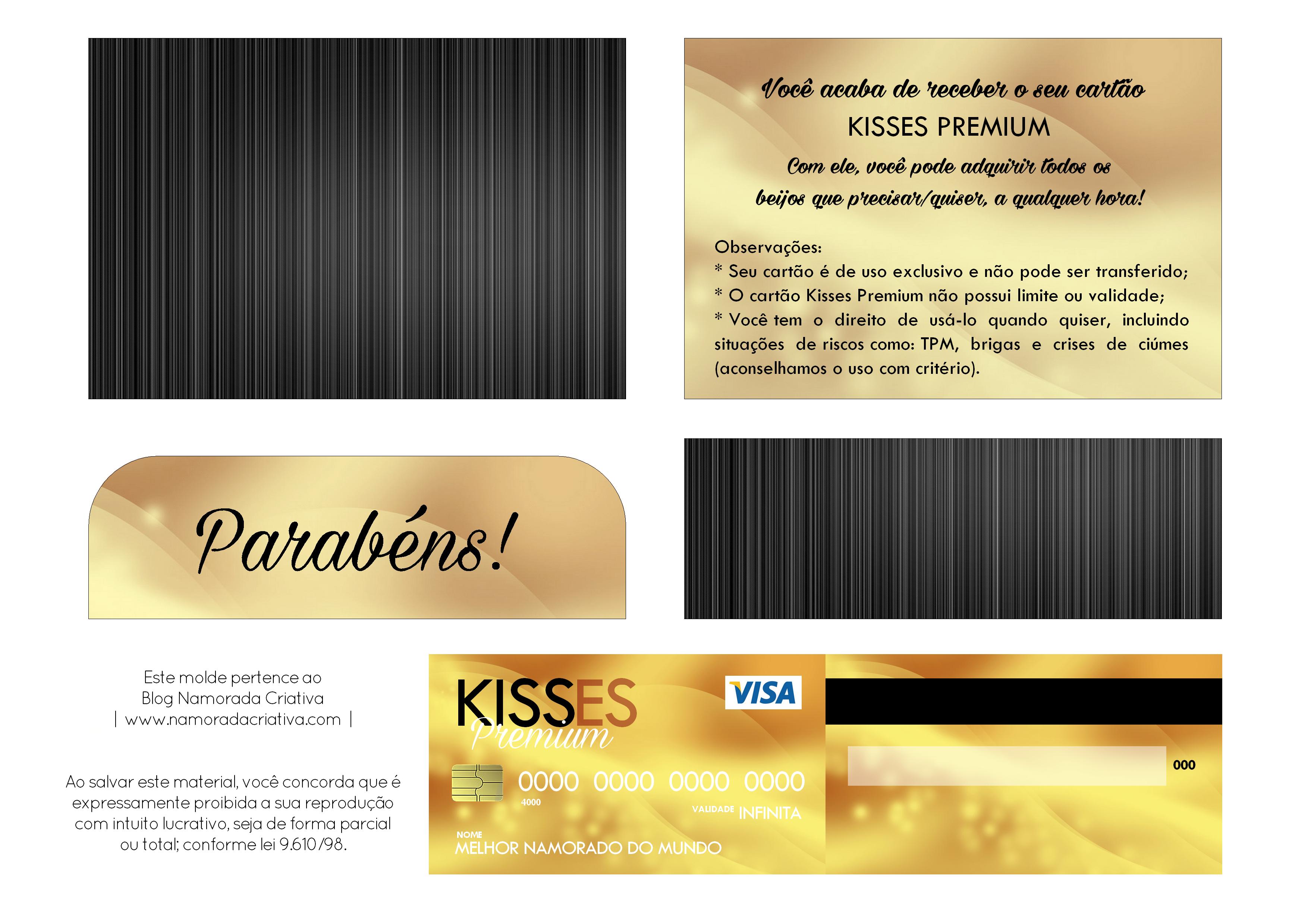 DIY - CARTÃO KISSES PREMIUM - MOLDE 01 A