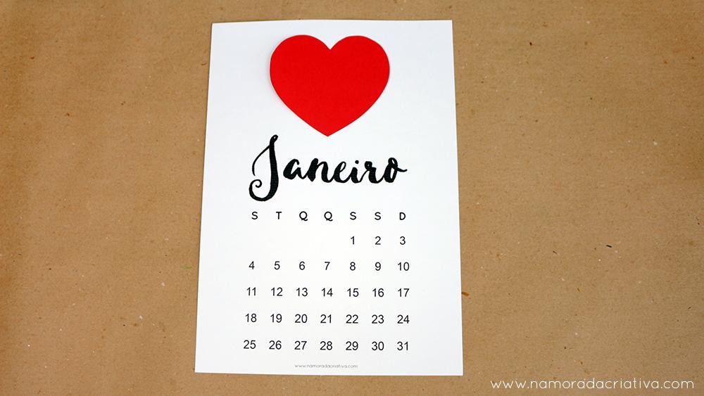 Calendario 2016 Personalizavel Namorada Criativa Por Chaiene