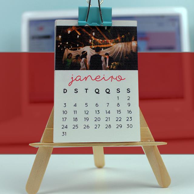 Calendário miniatura 2017