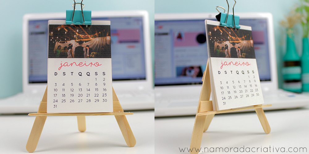 Mini Calendario.Diy Mini Calendario De Mesa Com Fotos Namorada Criativa