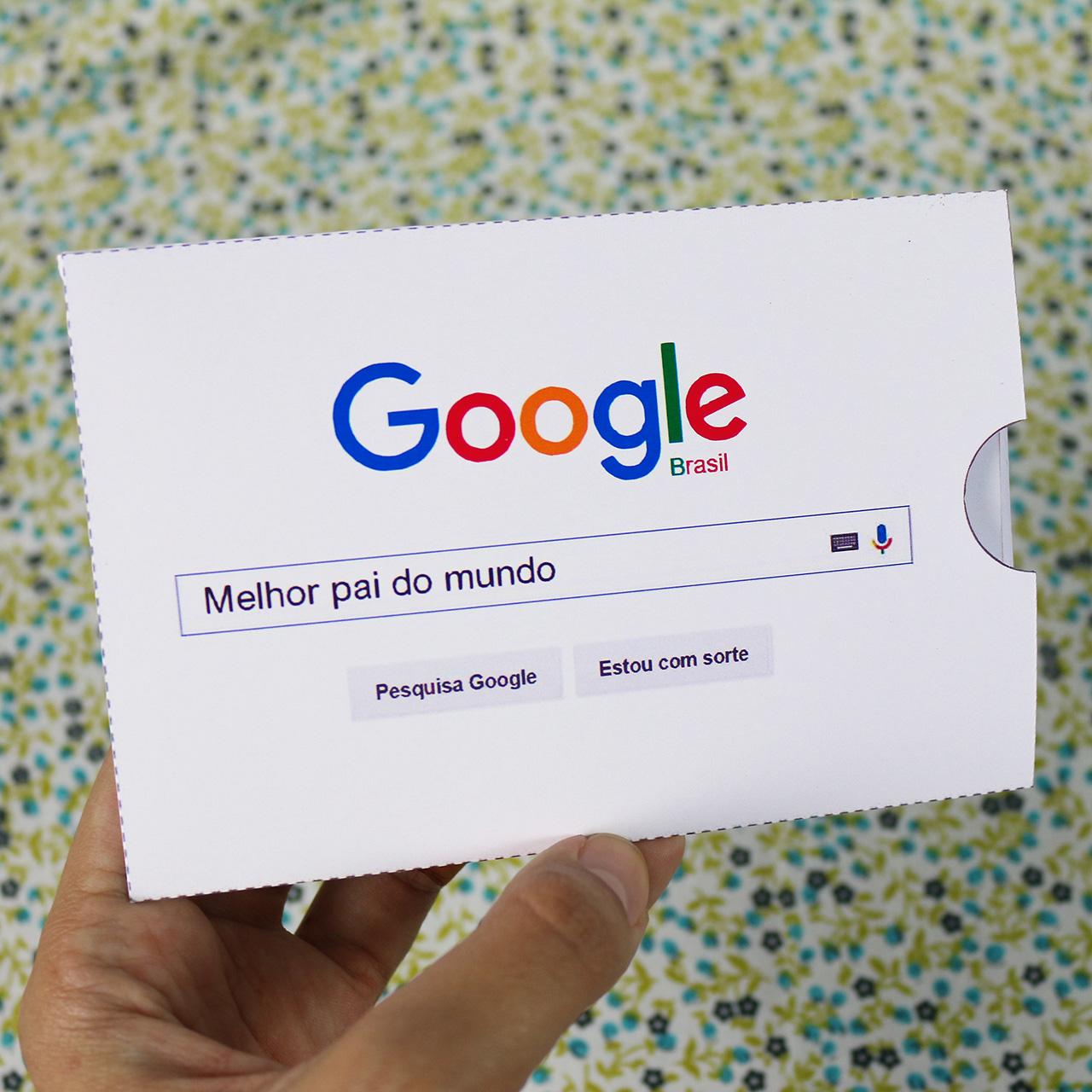Diy Cartao Google Melhor Pai Do Mundo Namorada Criativa Por