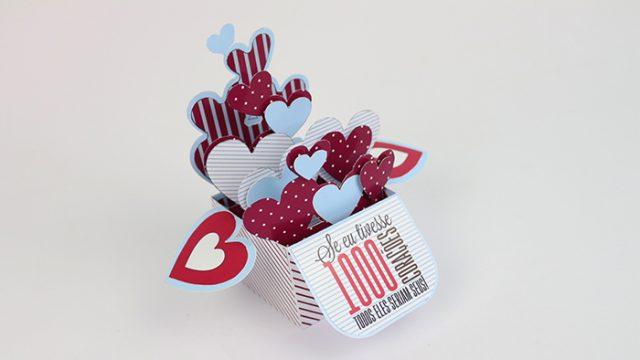 DIY: Card in a Box de Corações