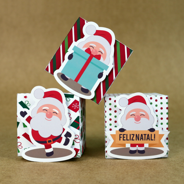 DIY: Mini Caixinhas Papai Noel