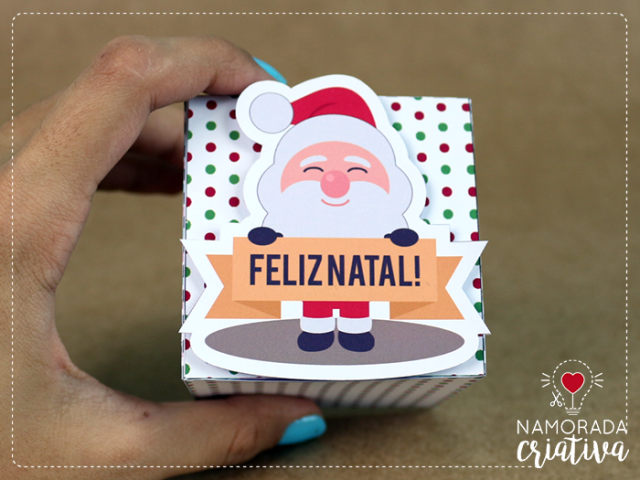 Diy Mini Caixinhas Papai Noel Namorada Criativa Por Chaiene