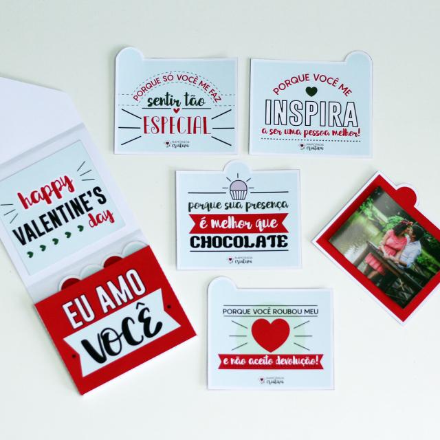 DIY: Cartão com fotos para Valentine's Day