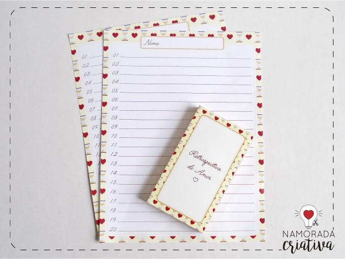 Diy Aniversario De Namoro Jogo Retrospectiva Do Amor Namorada Criativa Por Chaiene Morais
