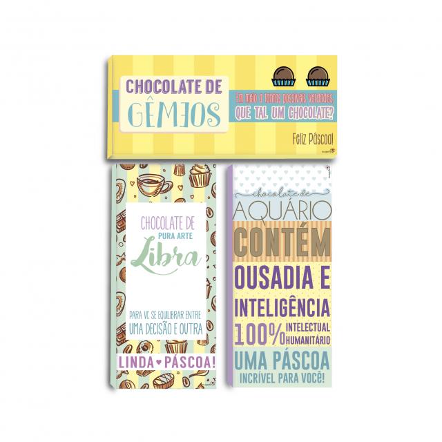 Páscoa: Rótulos para chocolate dos signos (elemento ar)