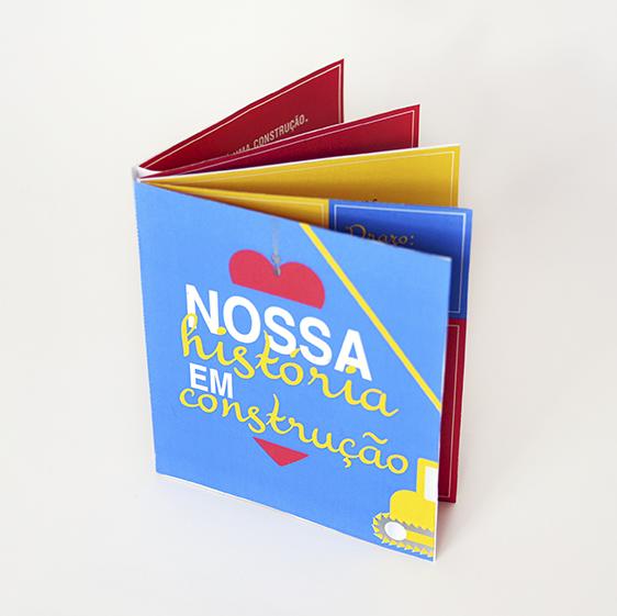 """DIY: Mini Álbum de Recordações """"Nossa História em Construção"""""""
