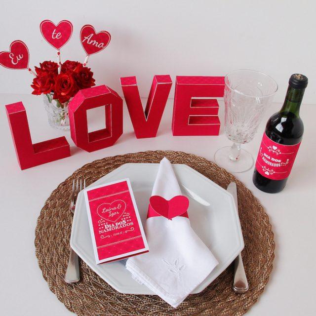 DIY: Decoração Jantar de Dia dos Namorados