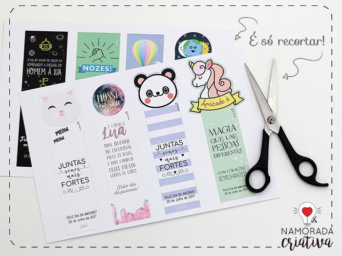 Marca Paginas Para Imprimir E Dar Aos Amigos Namorada Criativa