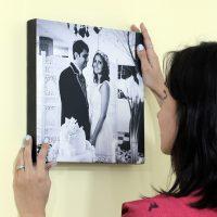 Colocando suas fotos favoritas em uma tela