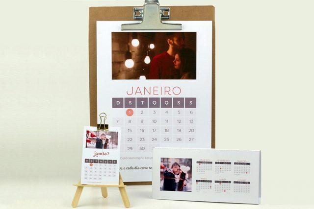 Calendários personalizáveis 2018