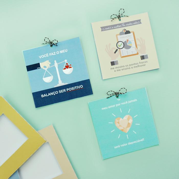 DIY: 3 cartões para namorado contador
