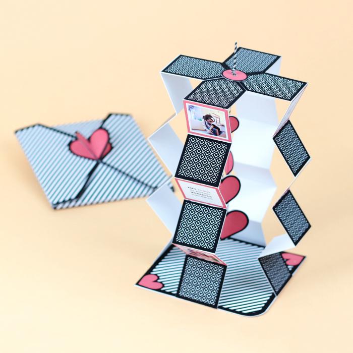 Cartão Cascata + Envelope Coração