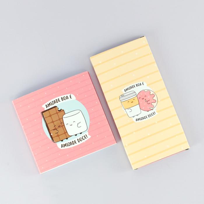 DIY: Coleção de Rótulos para Chocolate – Tema Amizade