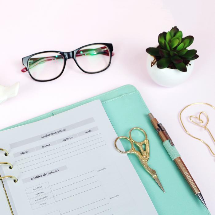 Cadernos extras para planner – Autocuidado, financeiro e literário