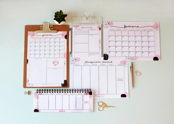 Planejadores – Diário, Semanal e Mensal