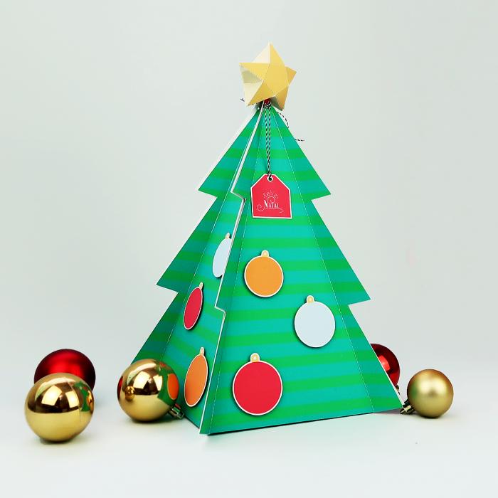 DIY: Caixa explosiva em formato de árvore de Natal